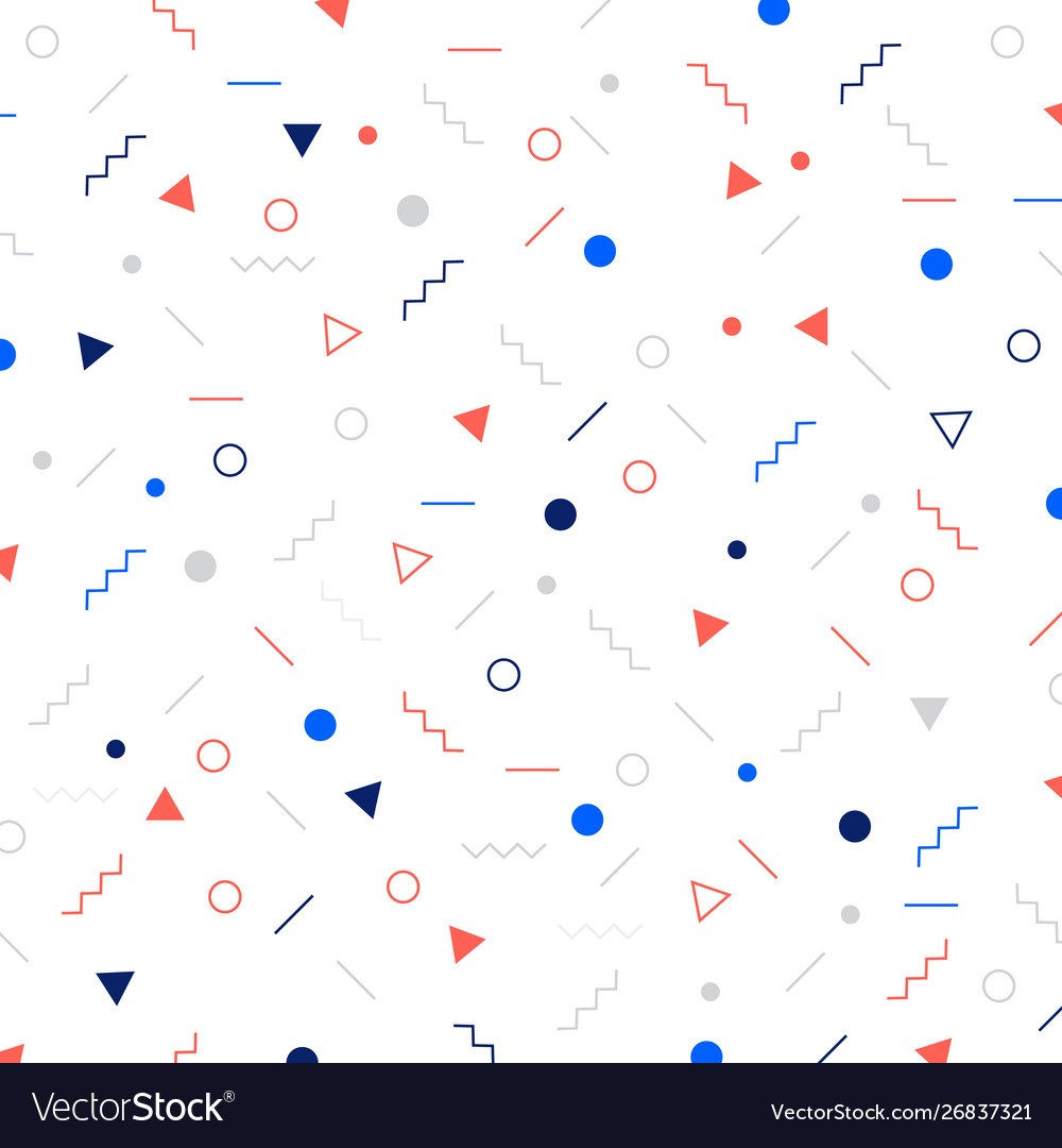 Abstract different geometric shapes pattern