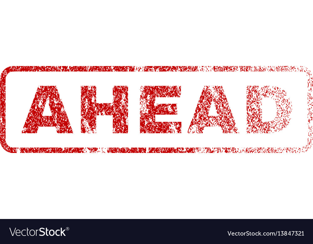 Ahead rubber stamp vector image