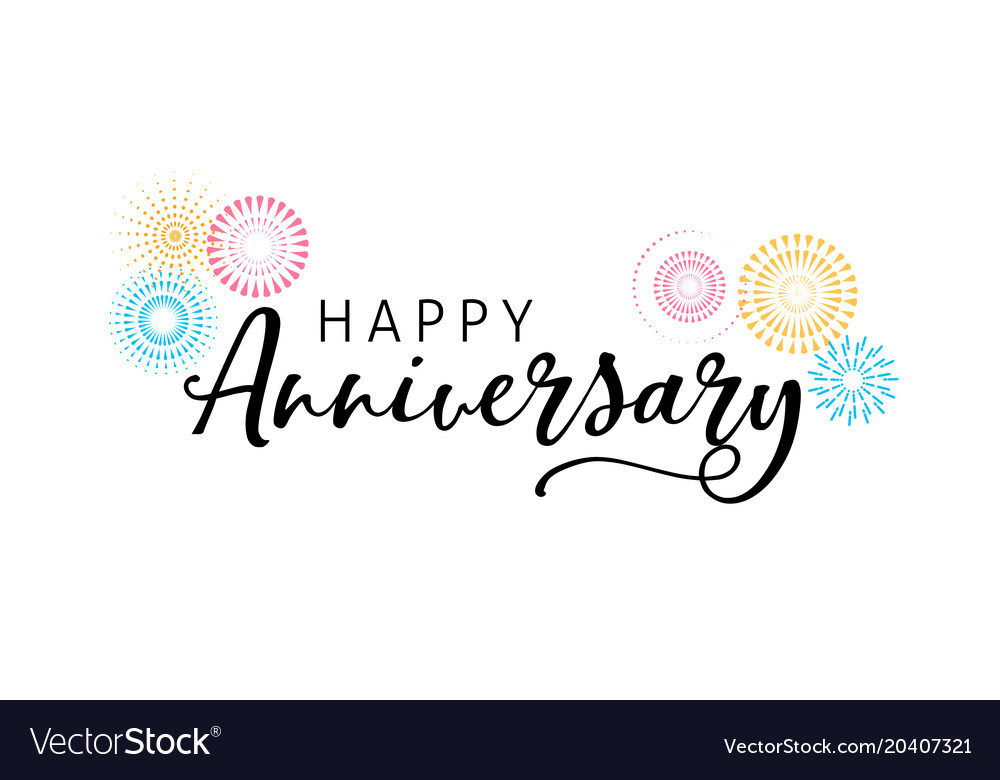 Anniversary celebration design with lettering