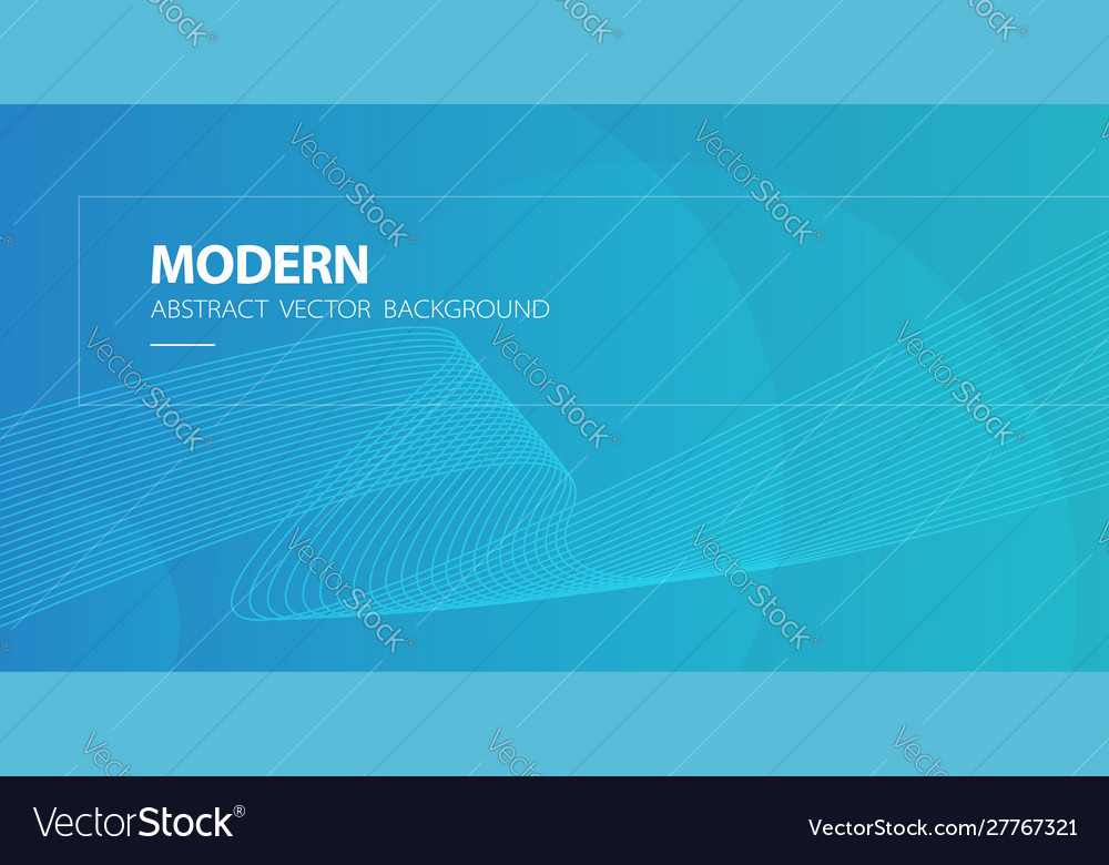 Blue abstract modern background with wavy lines