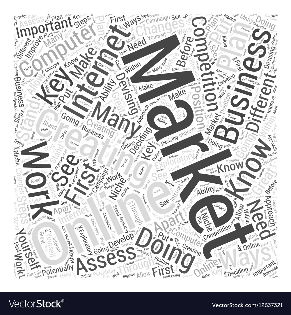 Creating online business Internet computer vector image