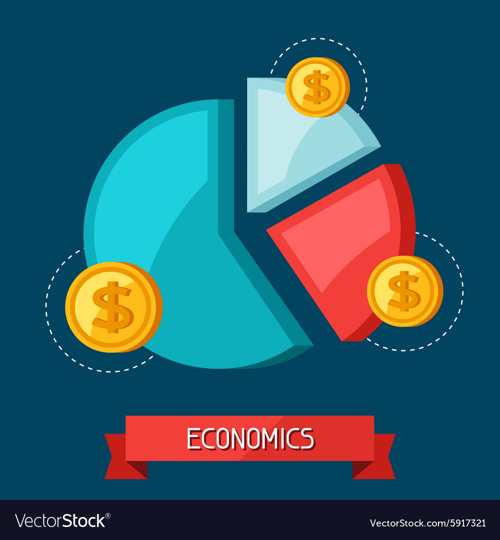 Infographic economic and finance concept flat