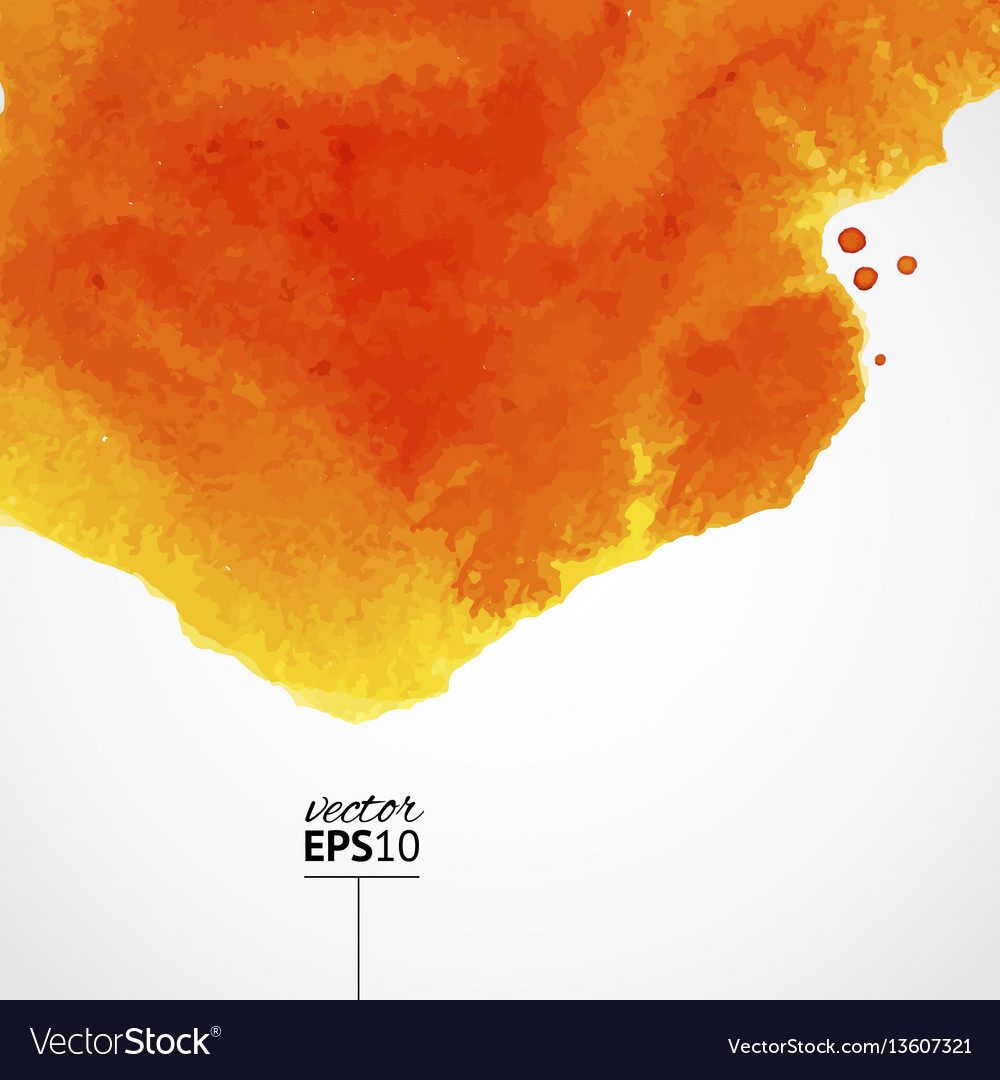 Orange watercolor background with top splash