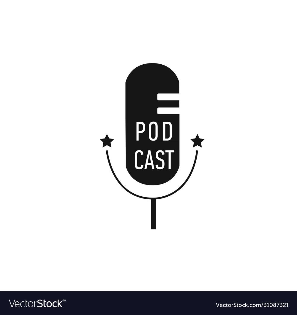 Podcast radio microphone concept webinar