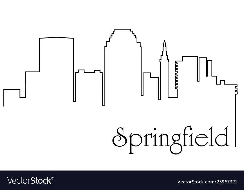 Springfield city one line drawing