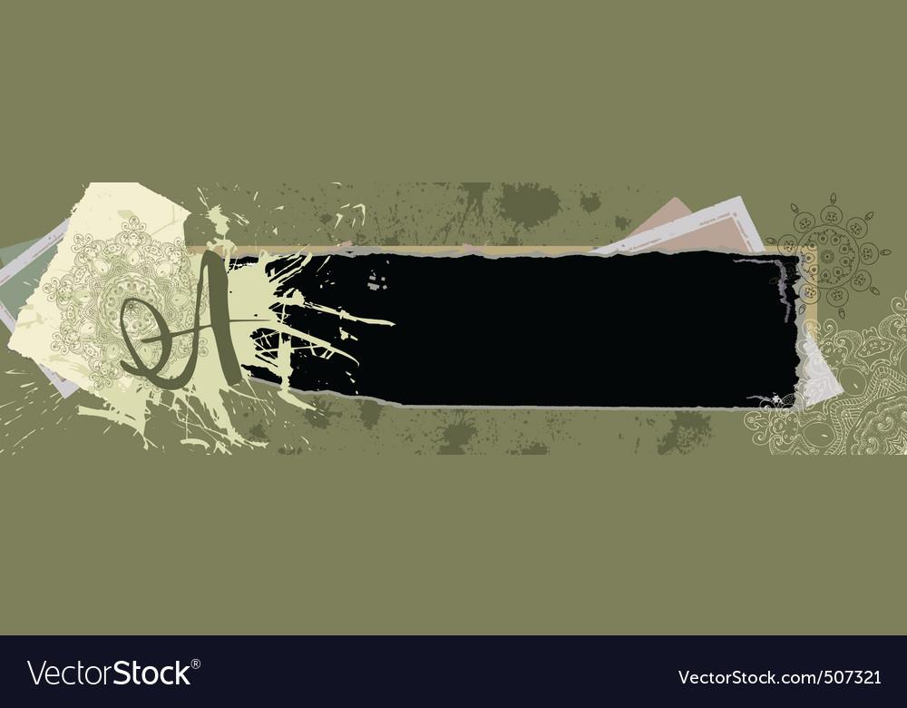 Vintage grunge banner