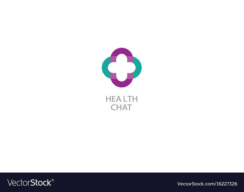Bright logo on medicine and health chat