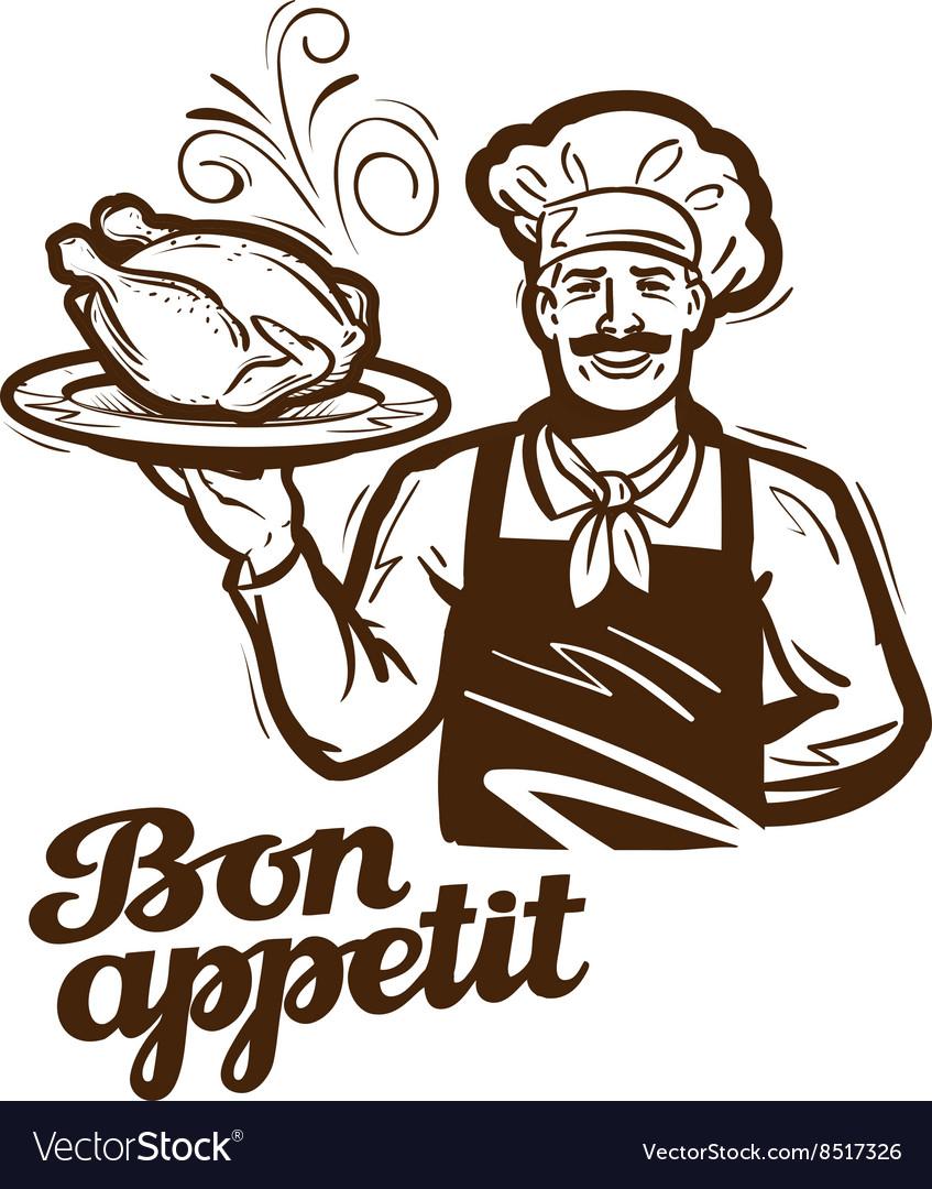 Cooking logo chicken turkey duck icon
