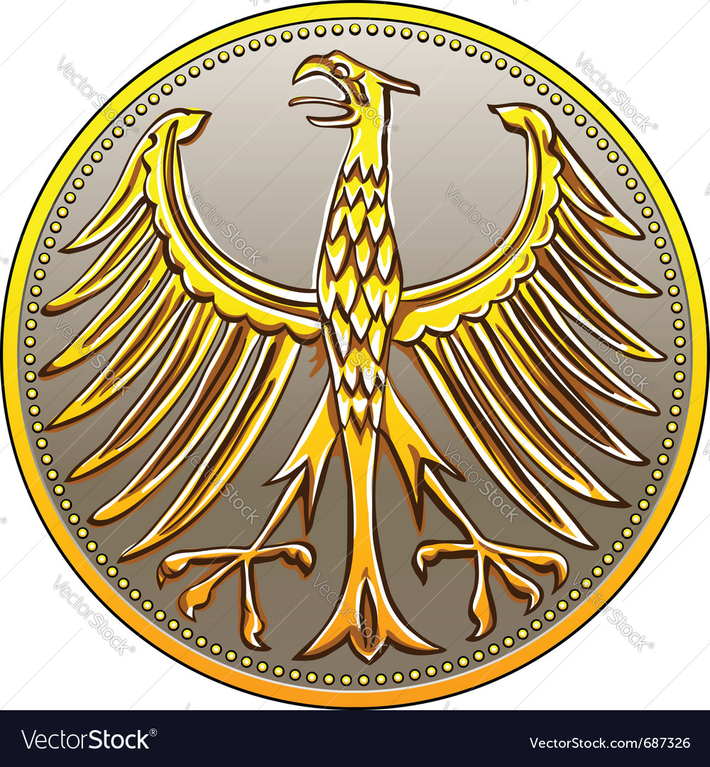 German money vector image