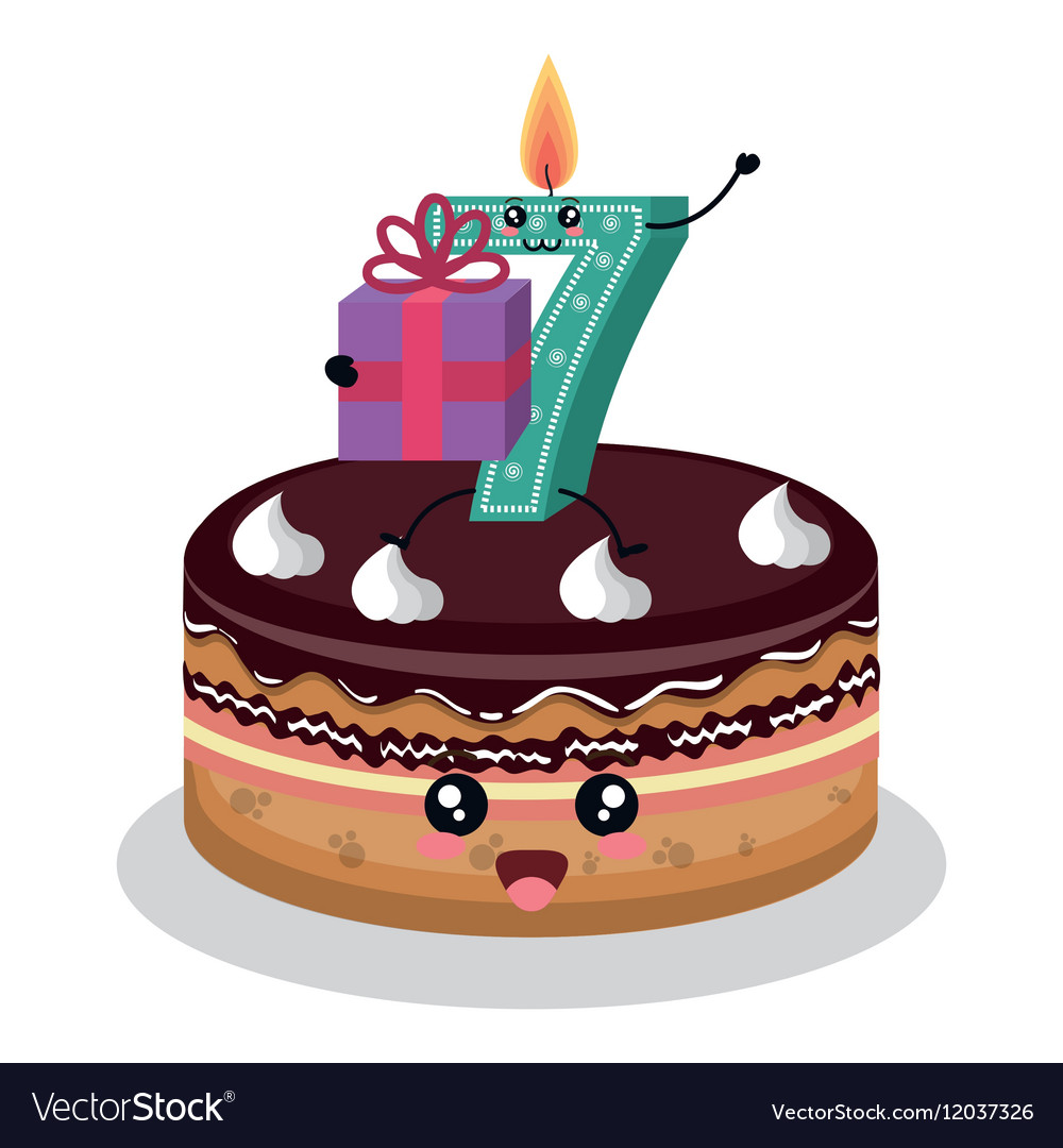Happy Birthday Candle Number Character Royalty Free Vector