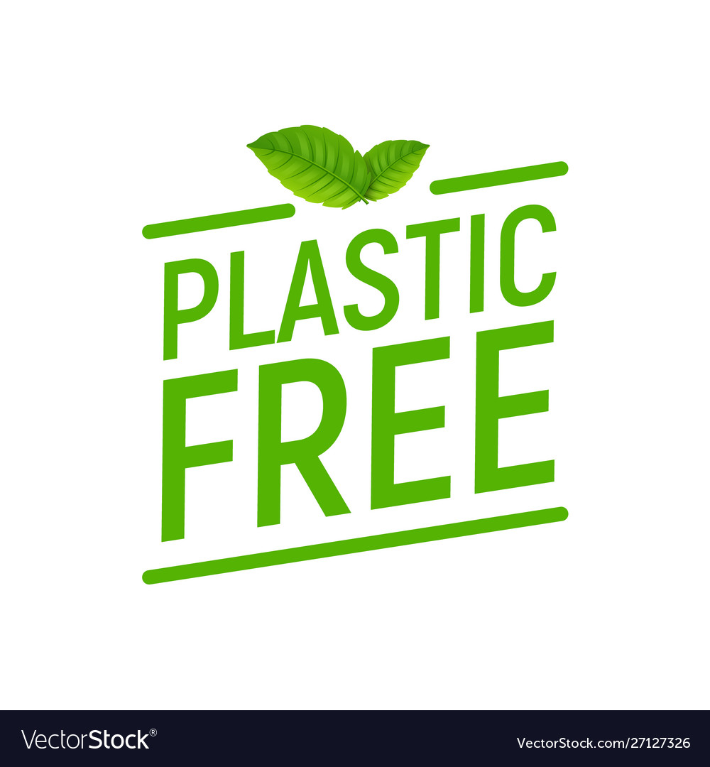 Plastic free green icon badge bpa plastic free