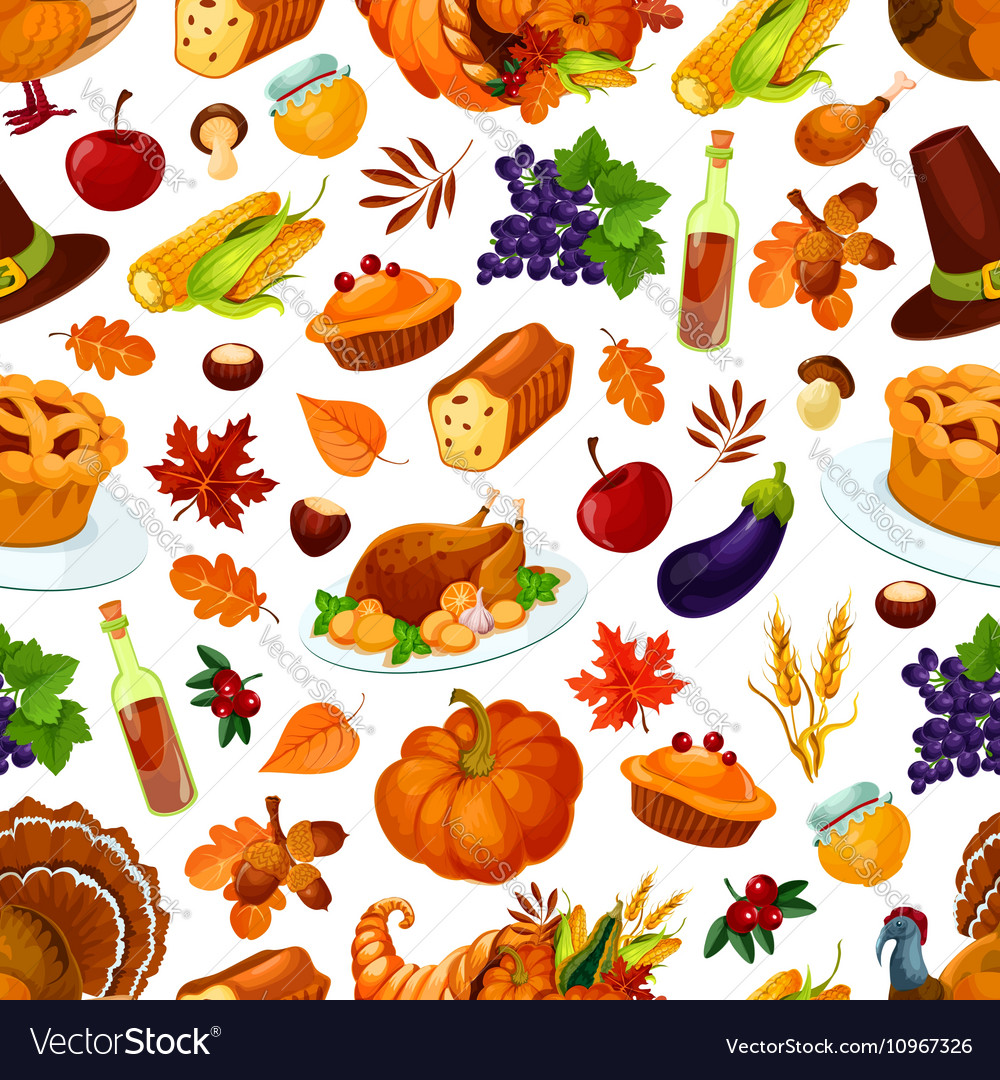 Thanksgiving day traditional celebration pattern