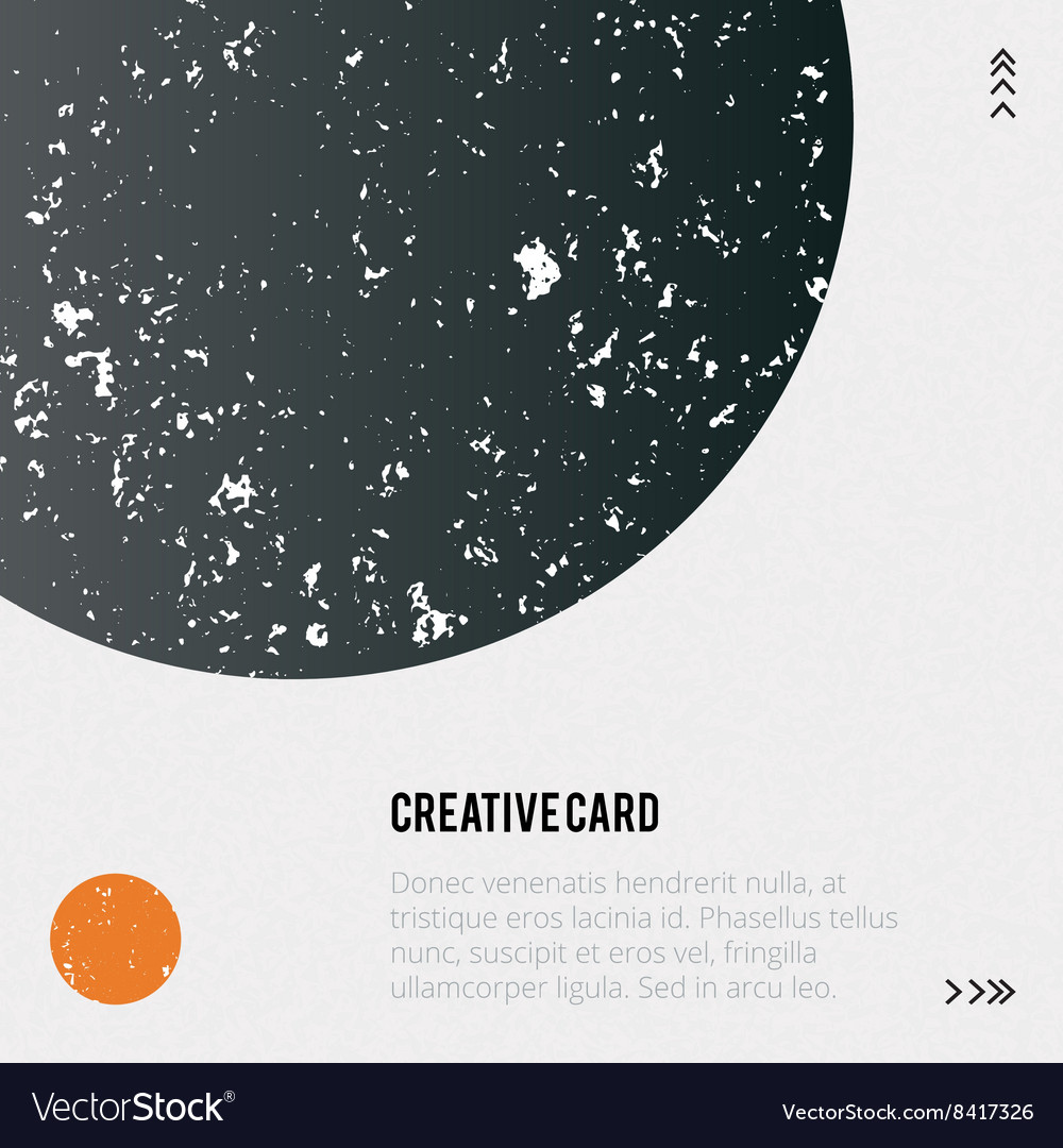 Trendy poster with geometric shapes texture vector image