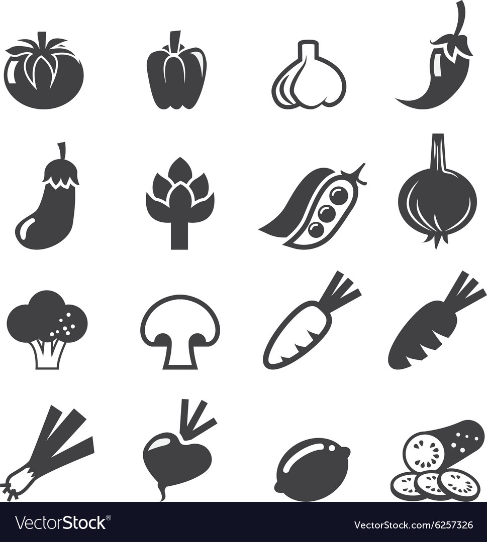 Vegetables icon set vector image