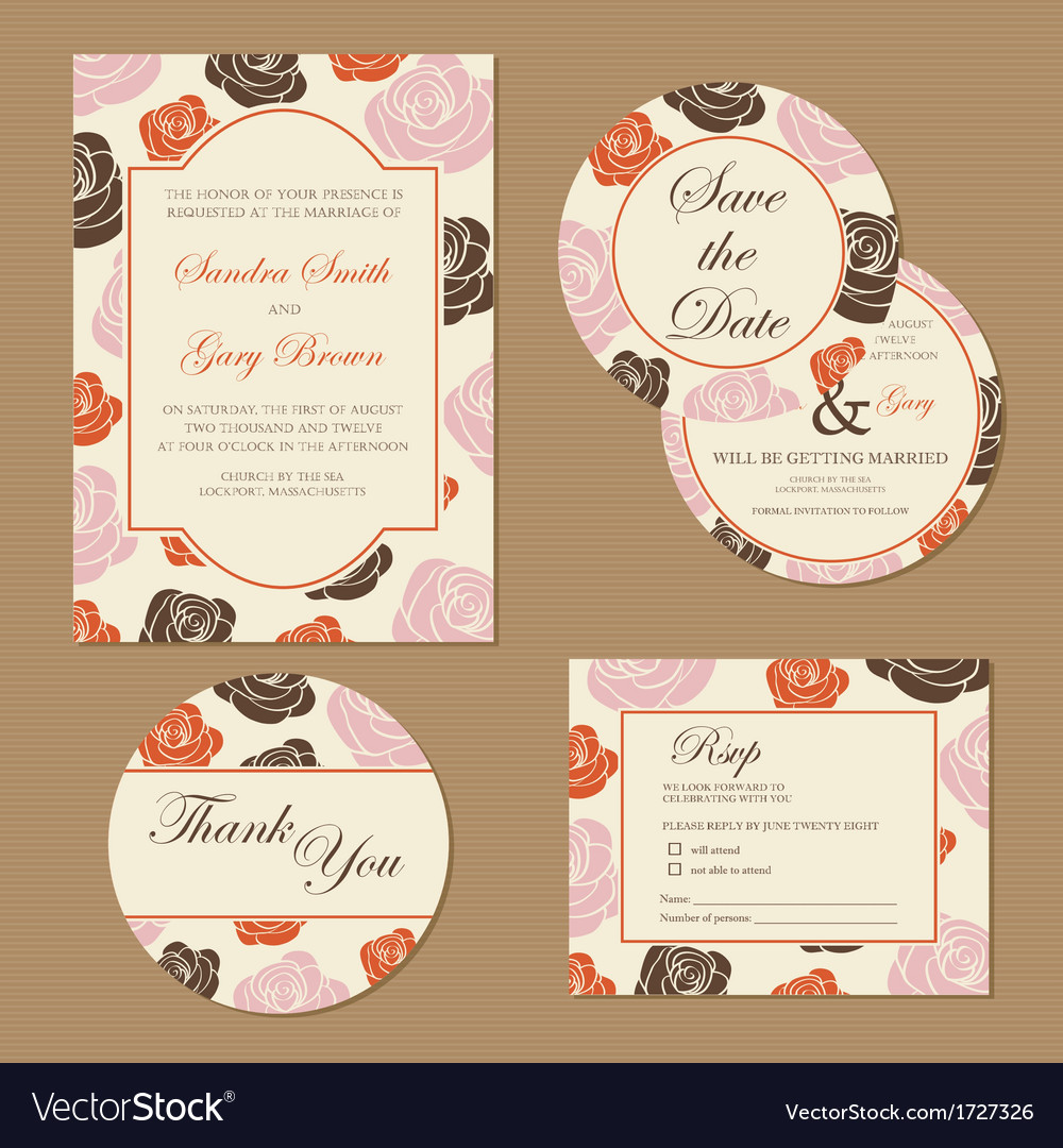 Wedding set with roses