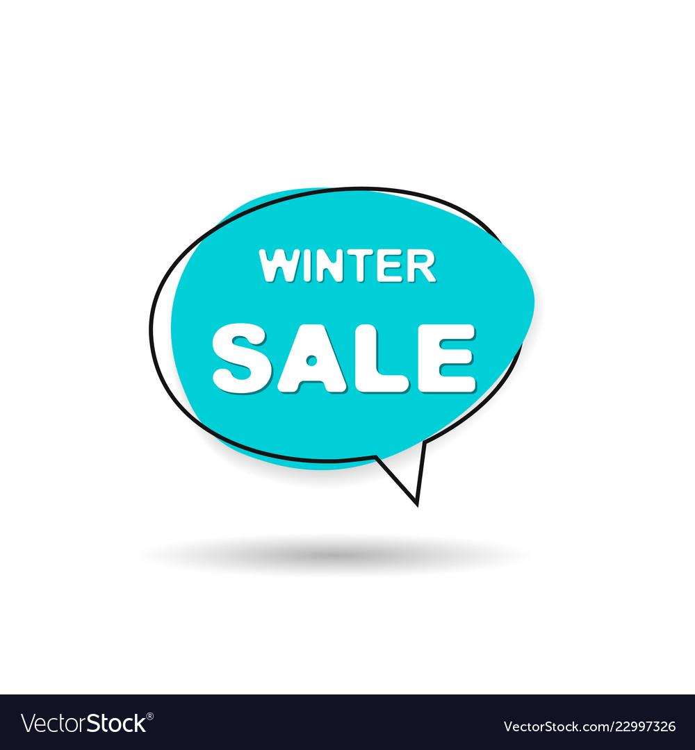 Winter sale speech bubble