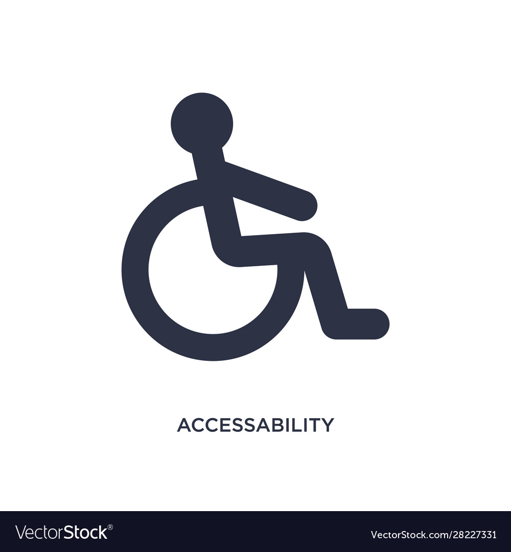 Accessability icon on white background simple