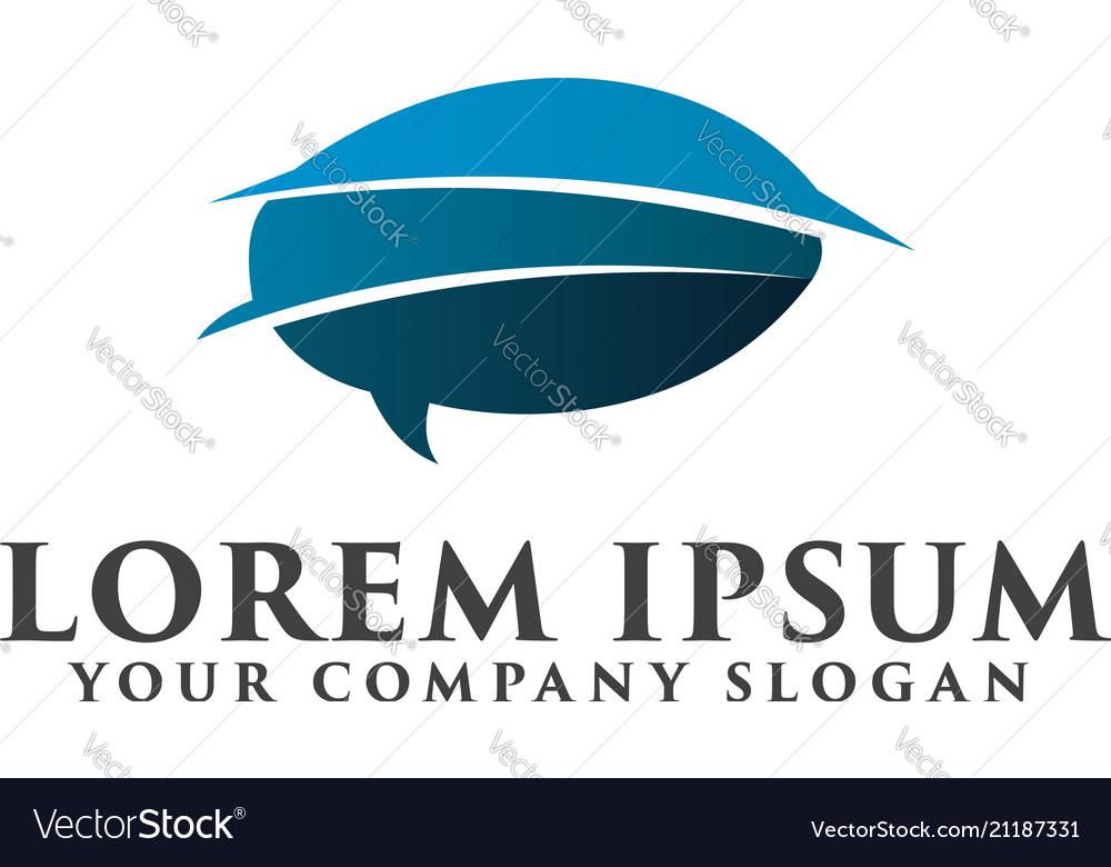 Comment logo internet communication logo design
