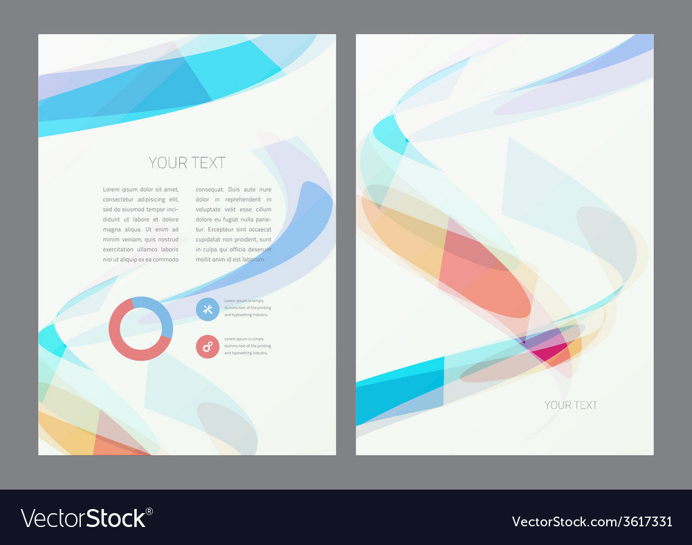 flyer design template royalty free vector image