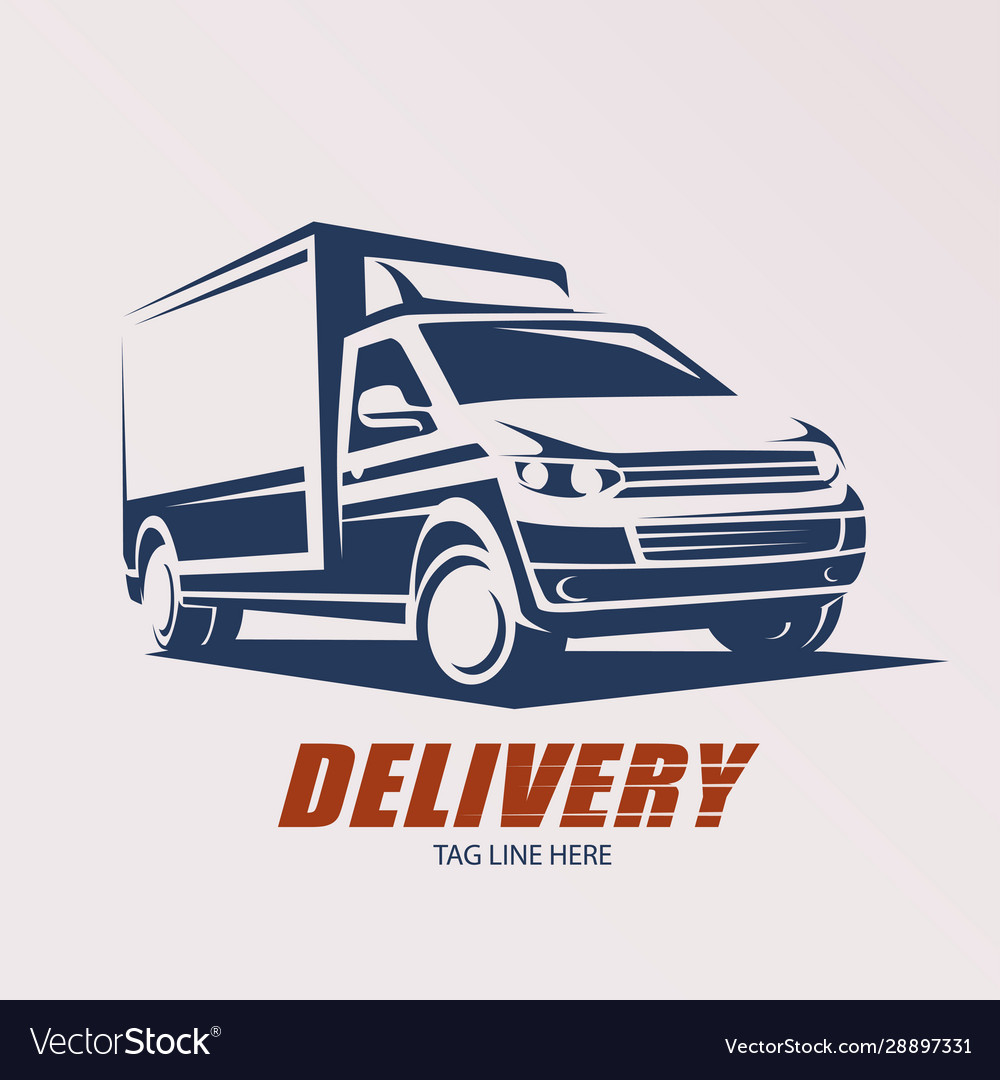 Mini van symbol logo template delivery and