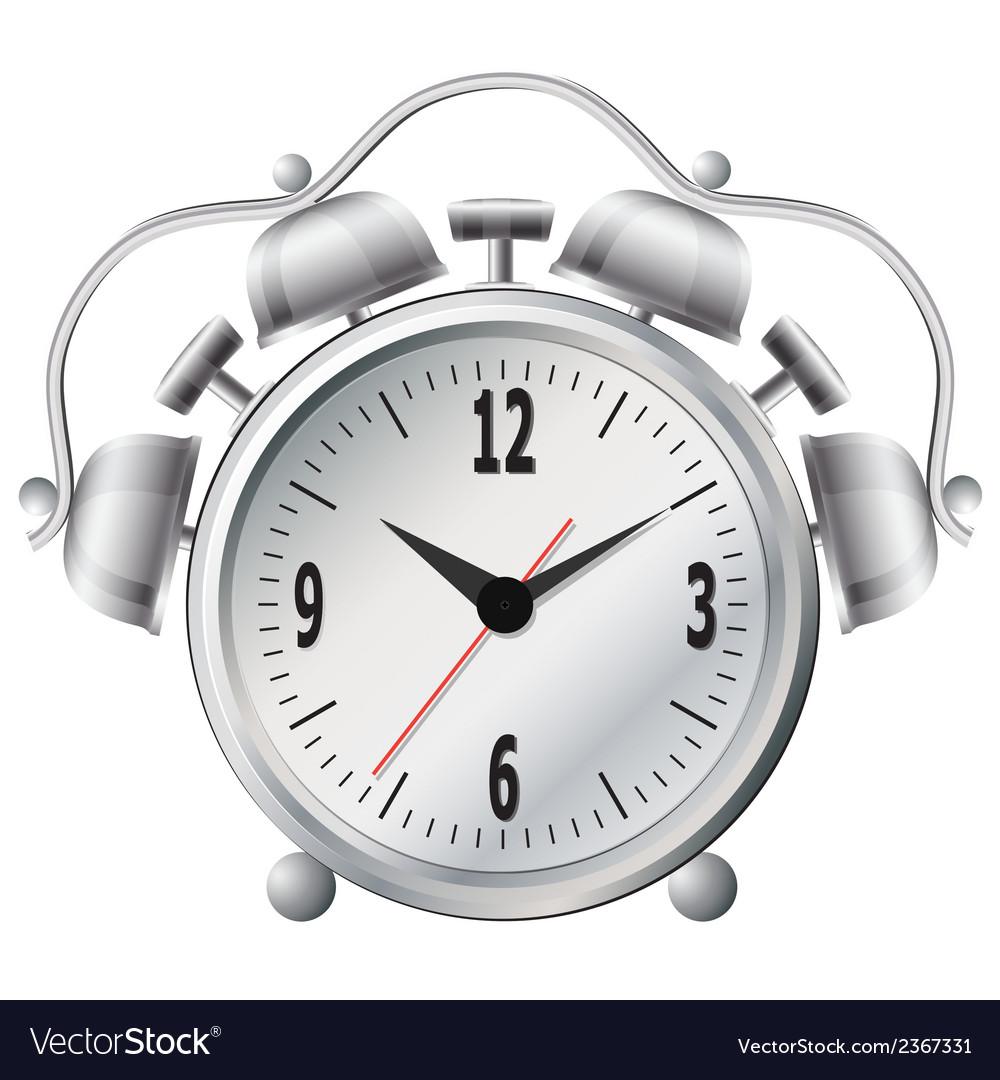 Old mechanical alarm clock vector image