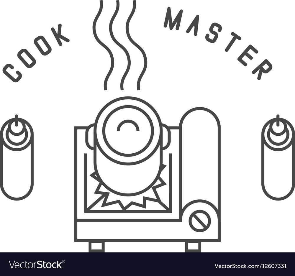 Portable gas stove vector image