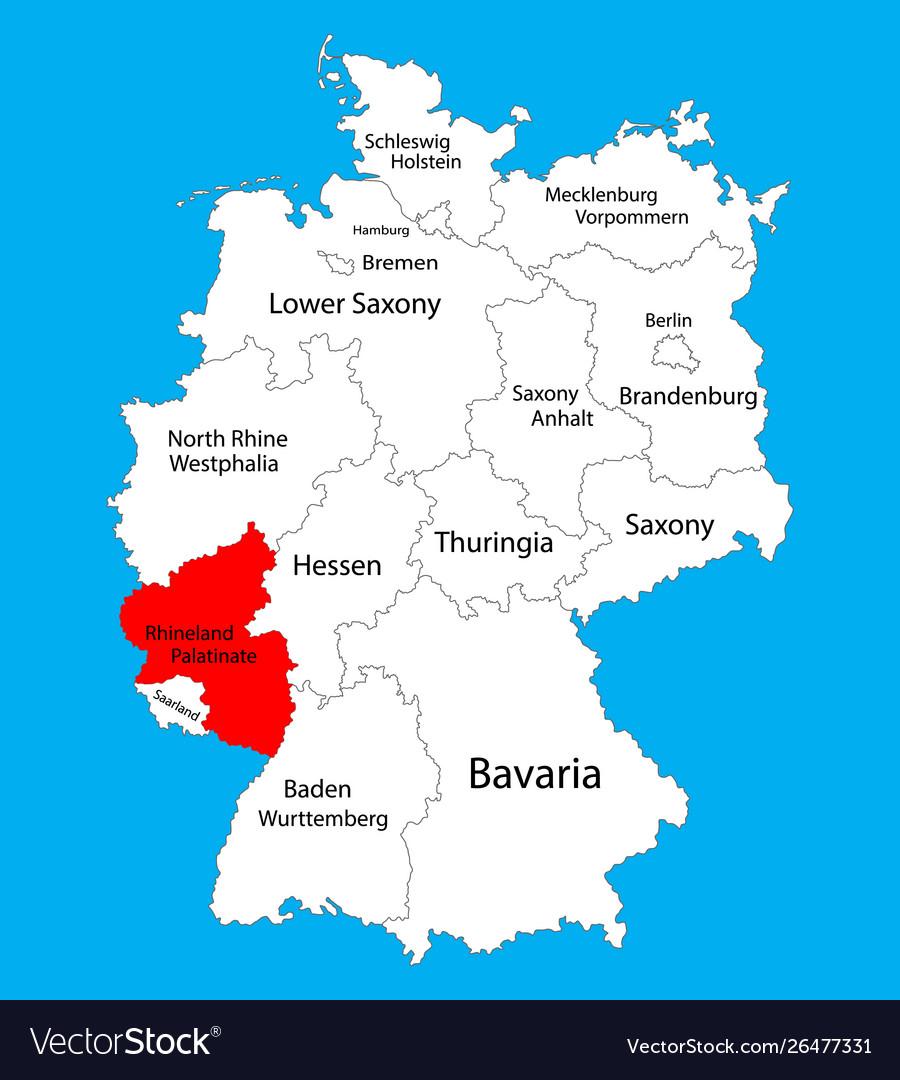 Map Of Germany Rhineland.Rhineland Palatinate State Map Germany Province