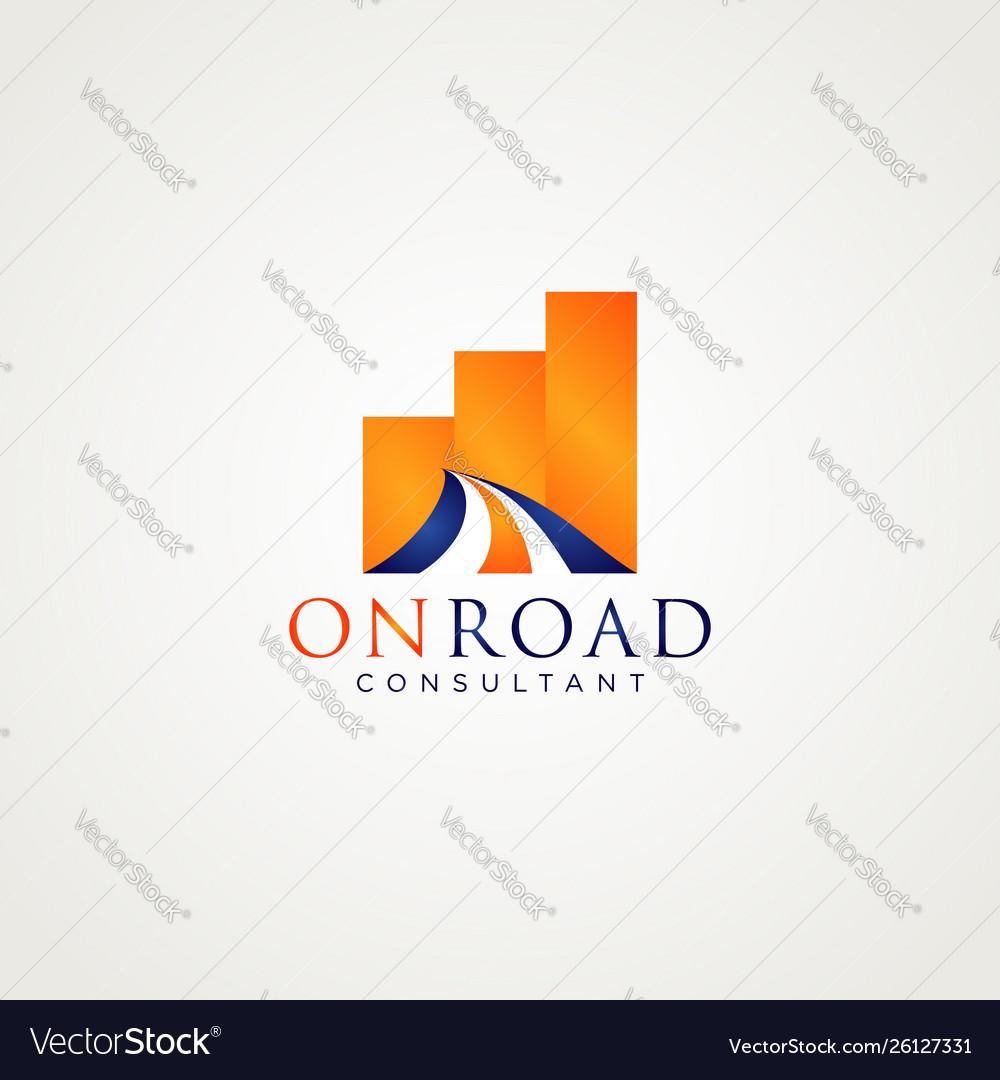 Road business logo design symbol