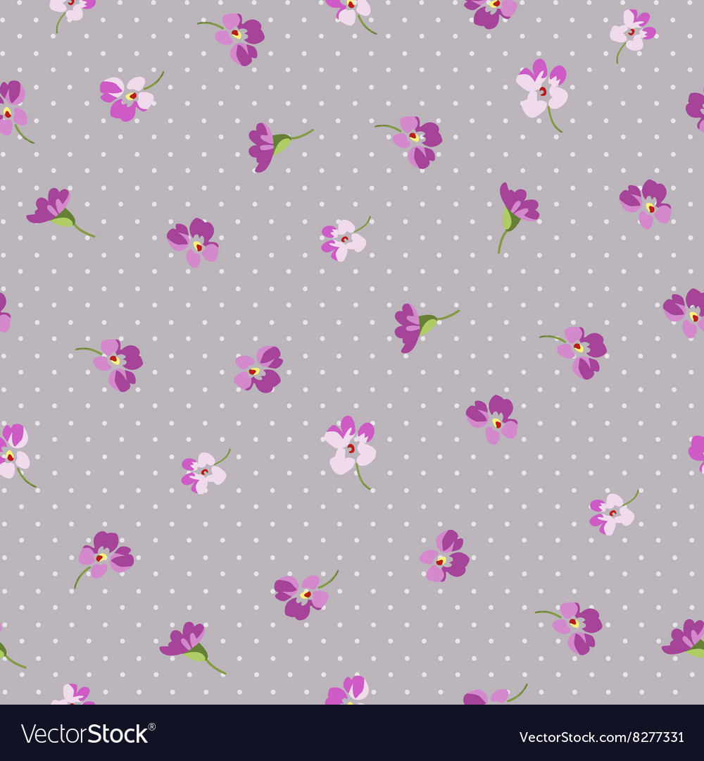 Seamless Floral Patter With Little Pink Flowers Vector Image