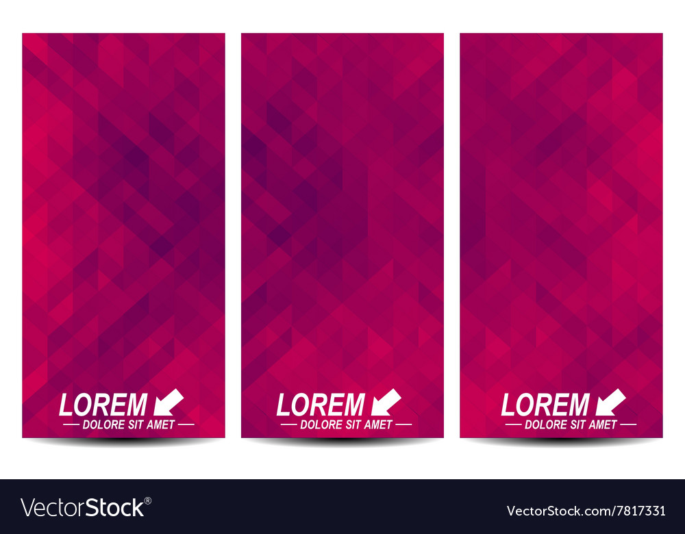set of flyers background with violet royalty free vector