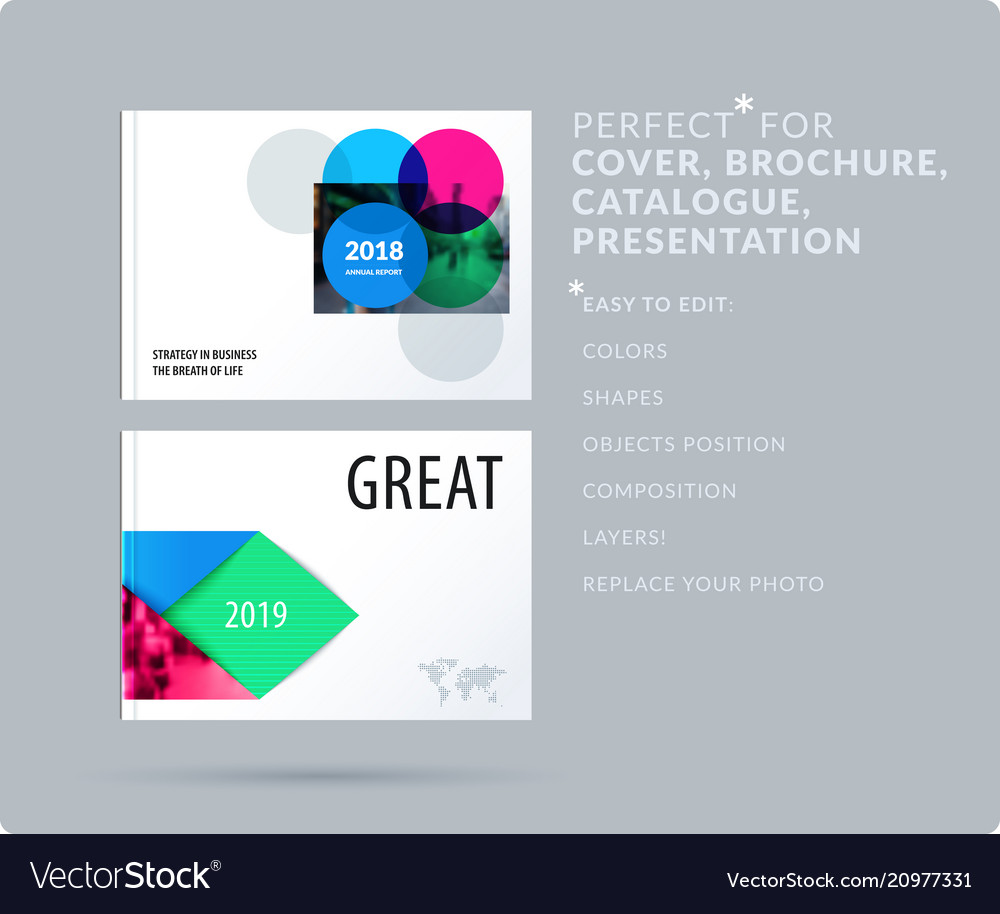 Smooth Design Presentation Template With Colourful Vector Image On Vectorstock