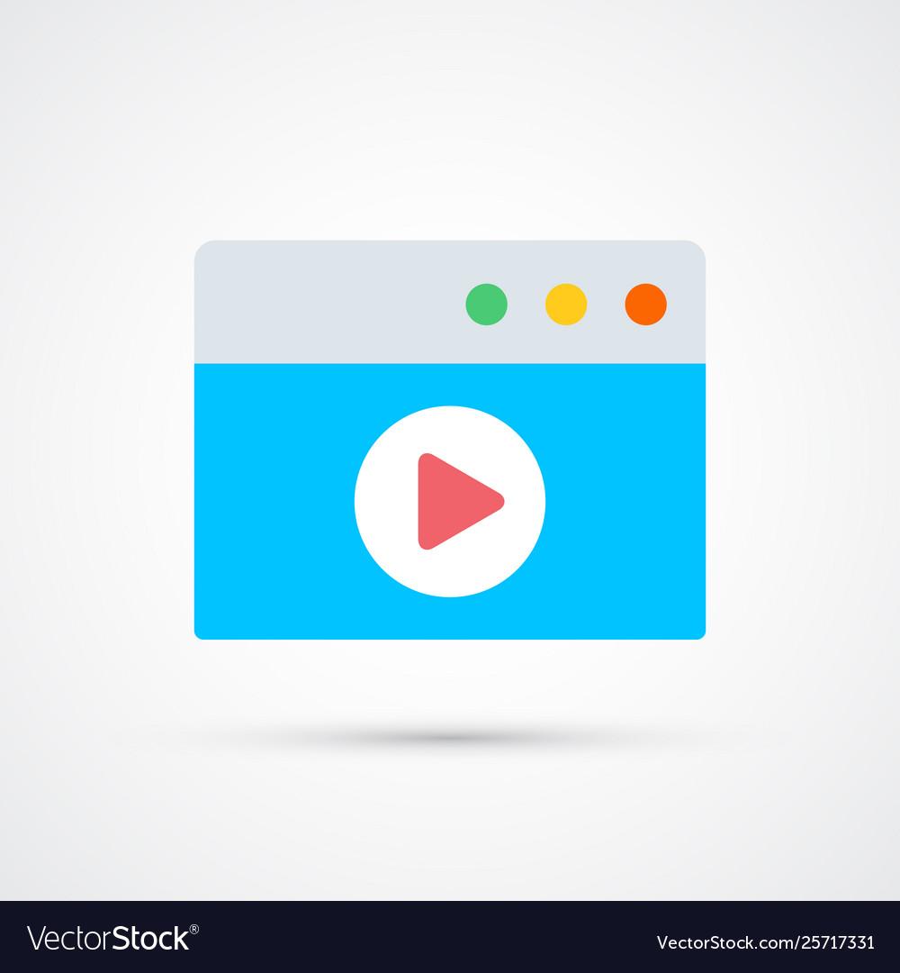 Video trendy social symbol trendy colored