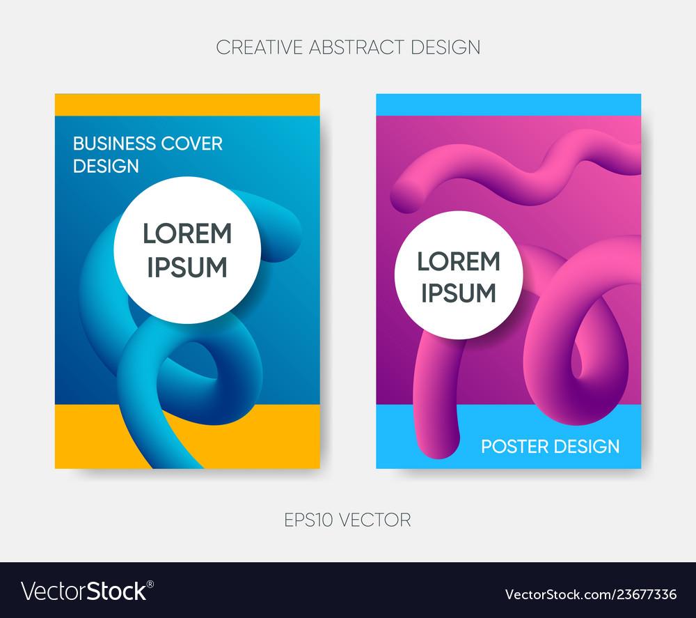 Cover design gradient fluid liquid shapes