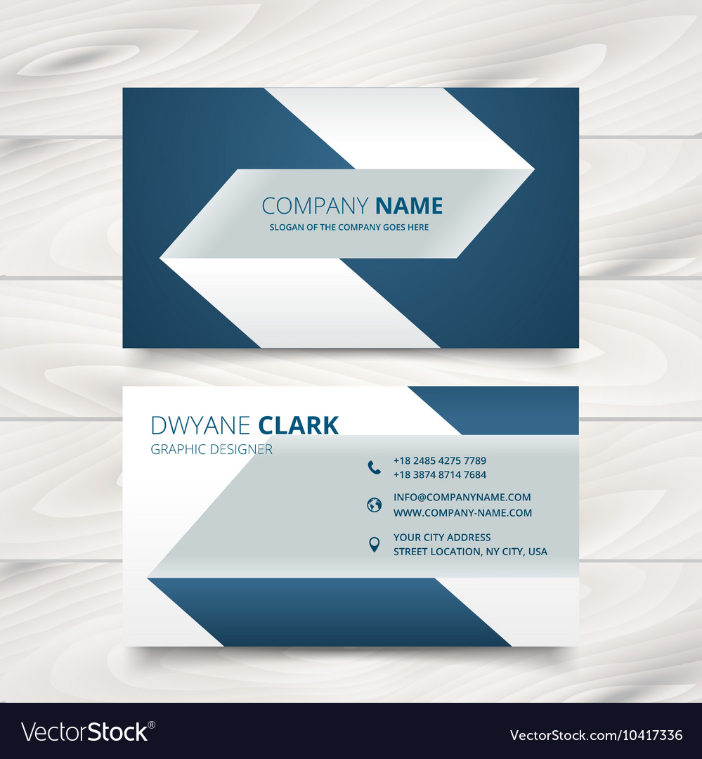 creative simple business card design royalty free vector