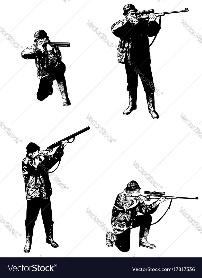 Hunters sketch set