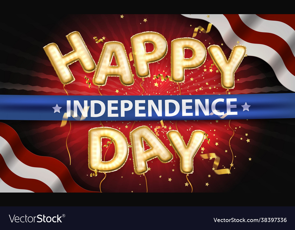 Independence day background with american