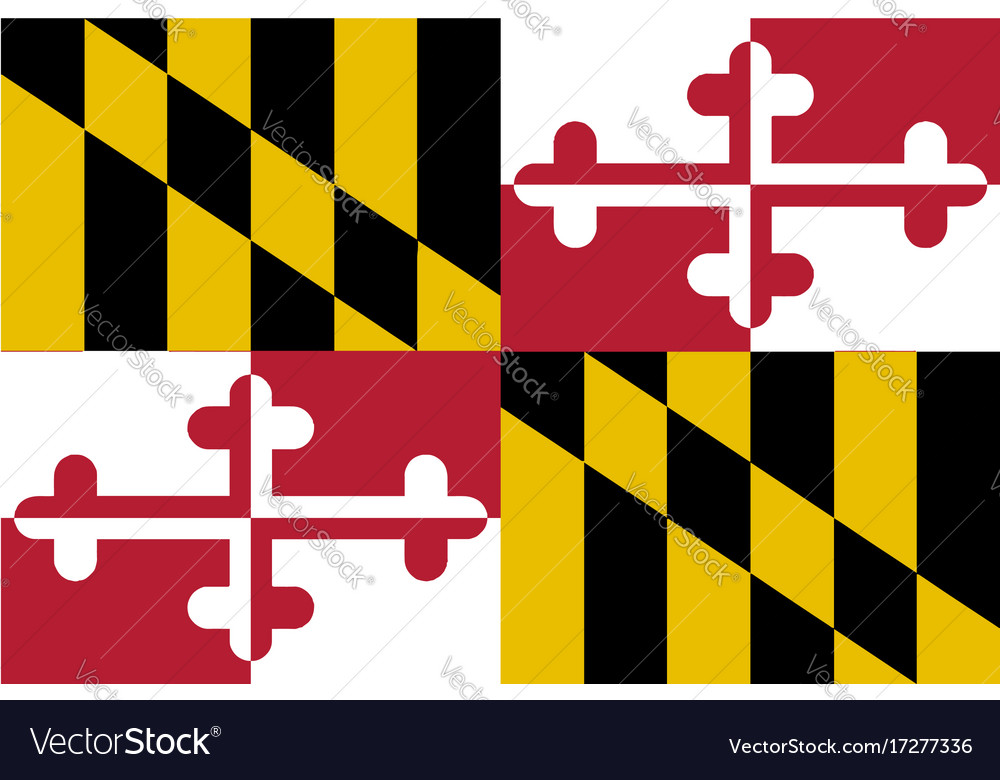 Maryland state flag vector image
