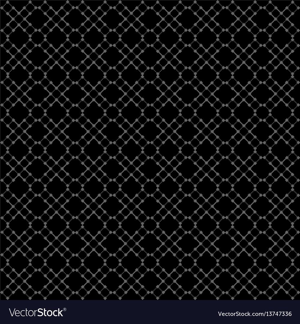 Seamless black geometric pattern