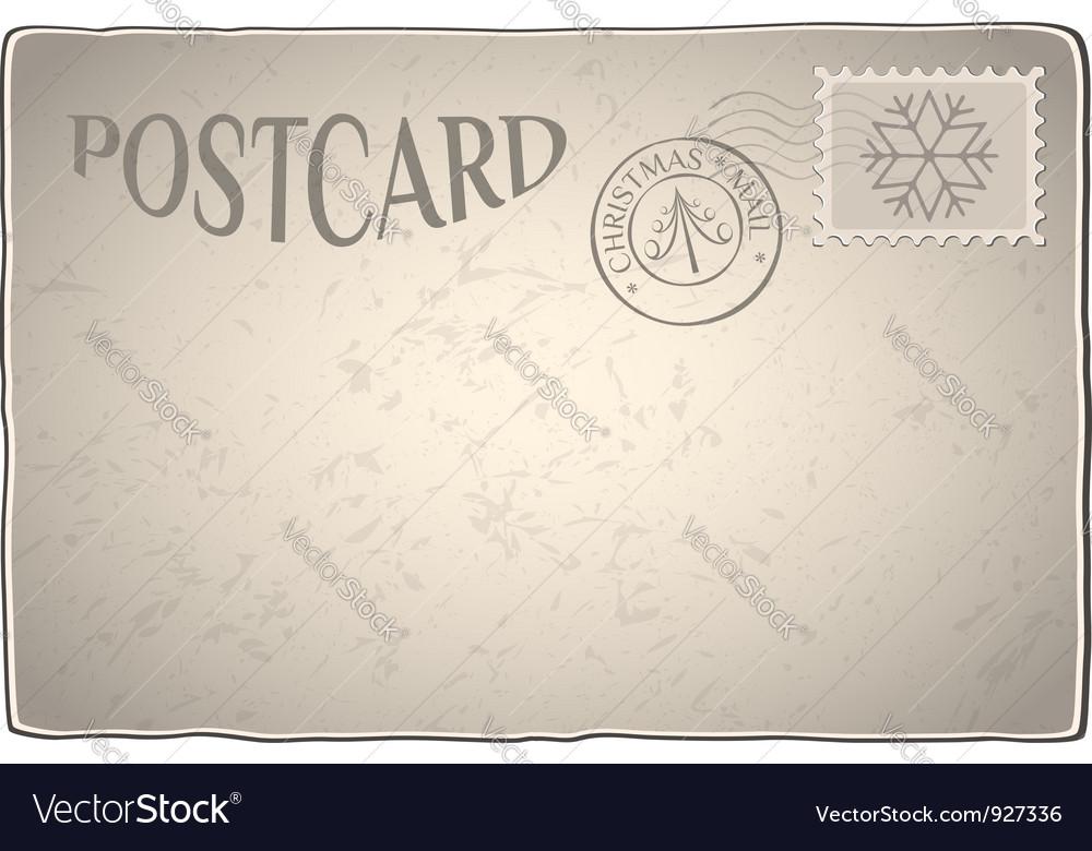 Xmas retro postcard
