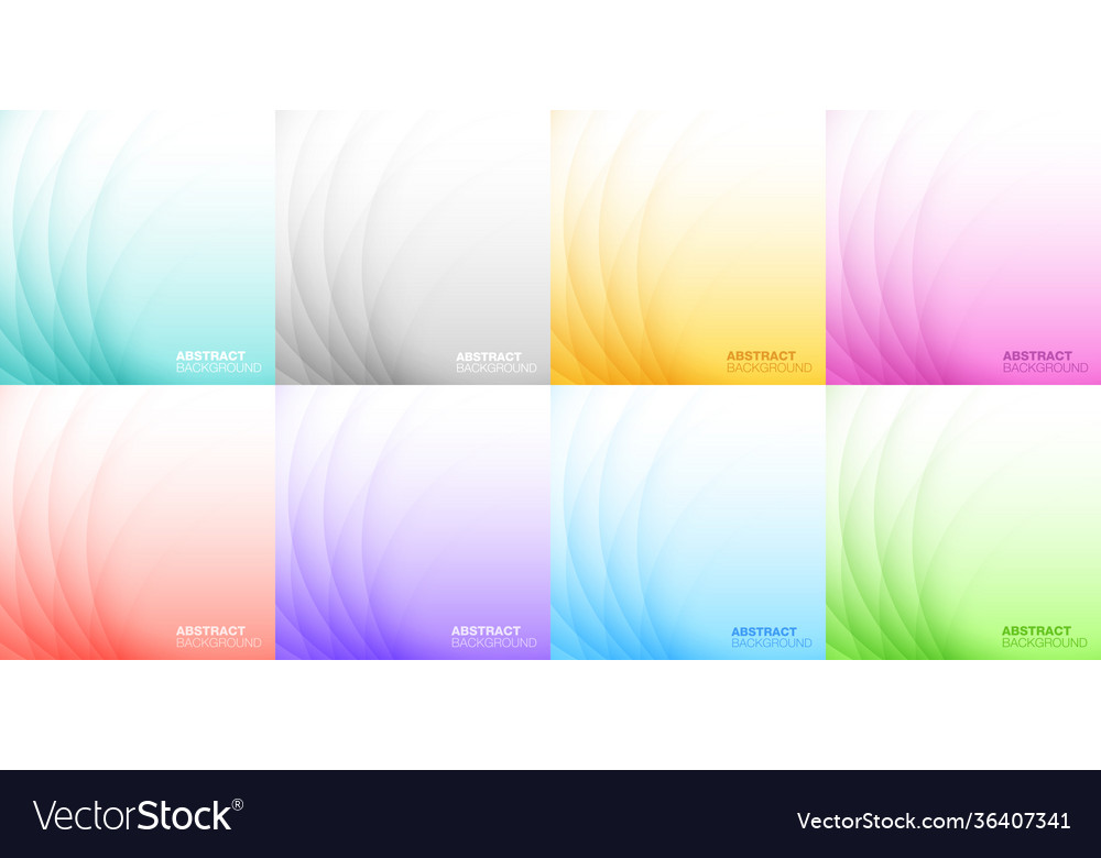 Abstract colorful light background set