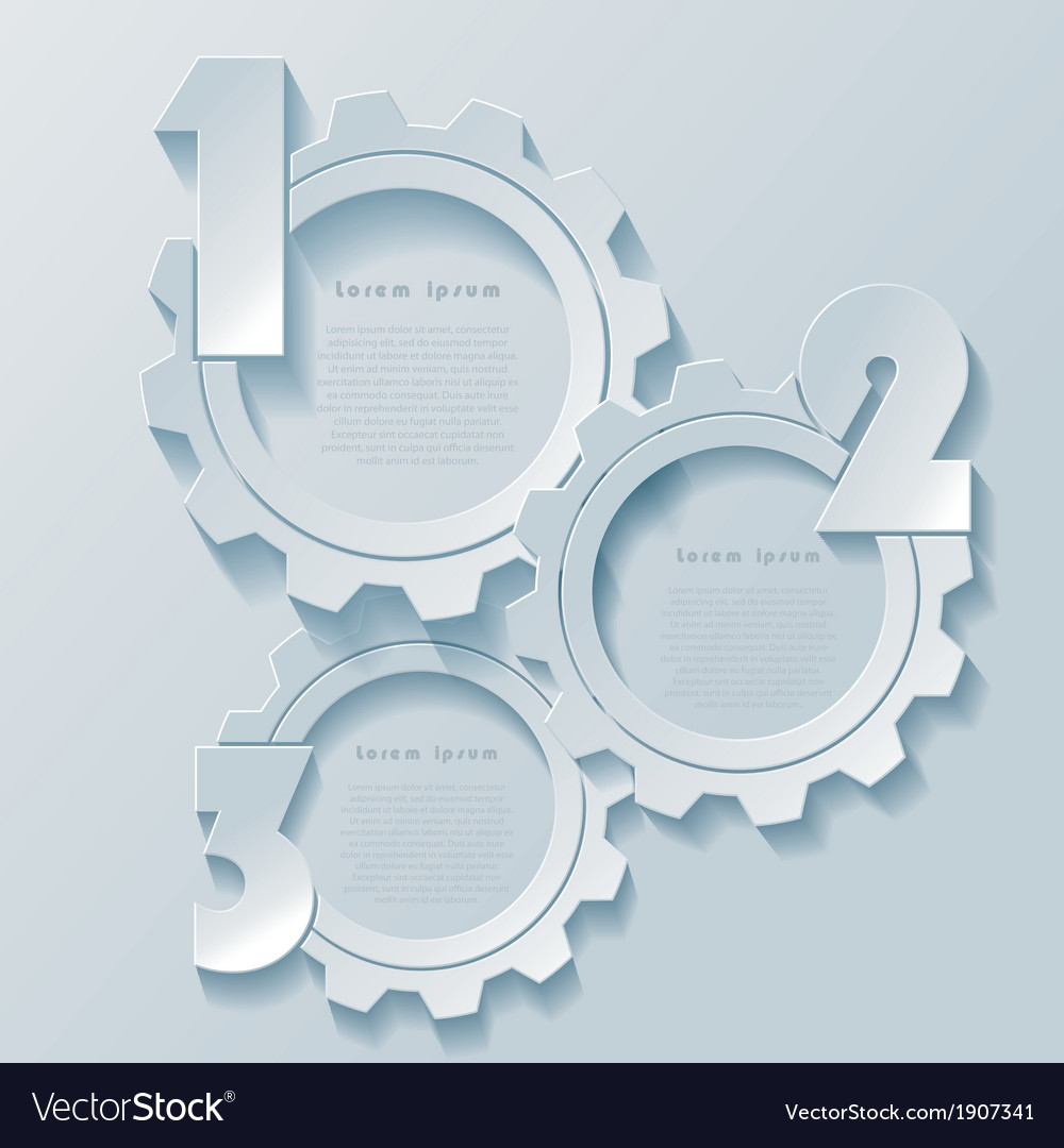 Abstract modern infographics design with cogwheels