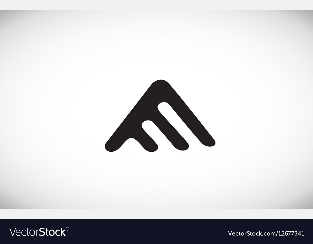 Alphabet letter A black white logo icon design vector image