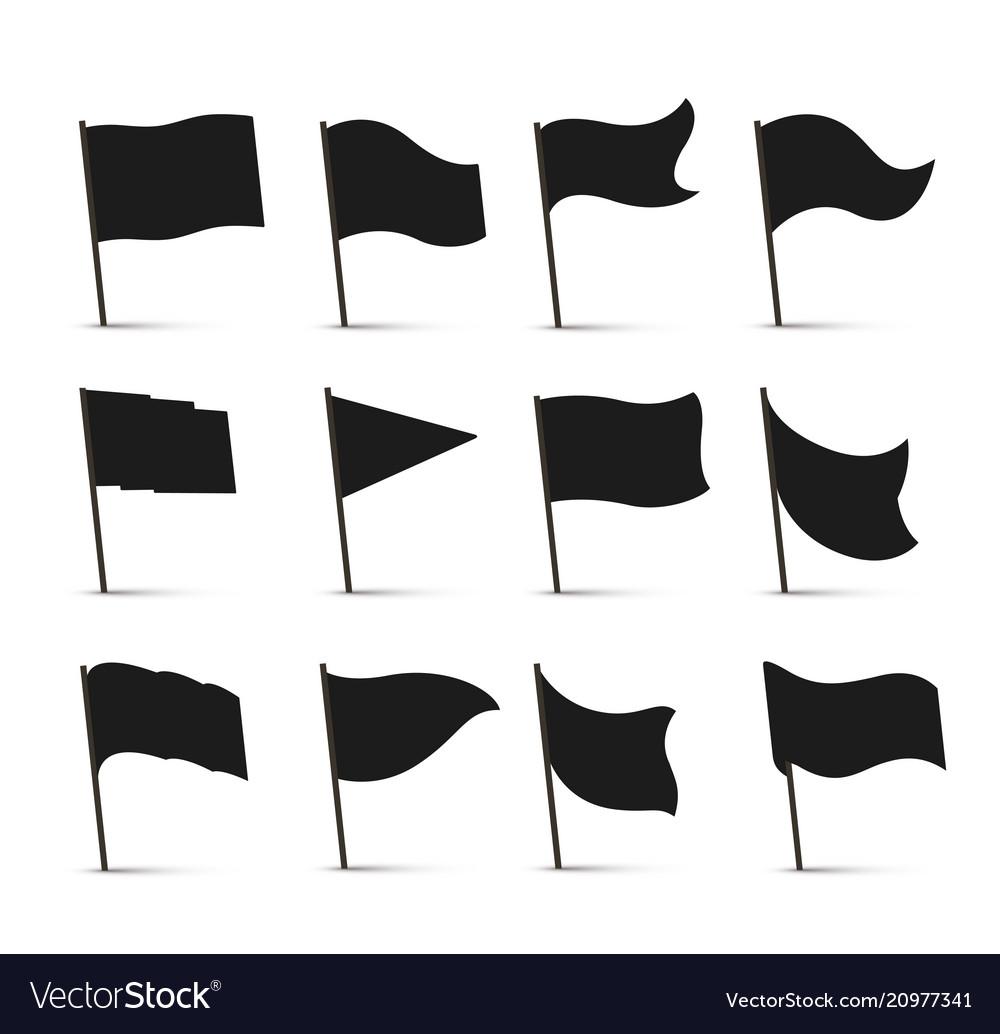 Black flag icons