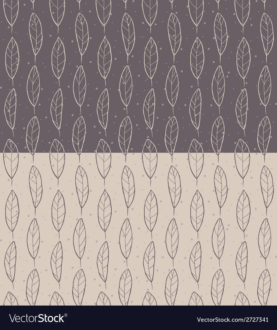 Set of Seamless Feather Pattern