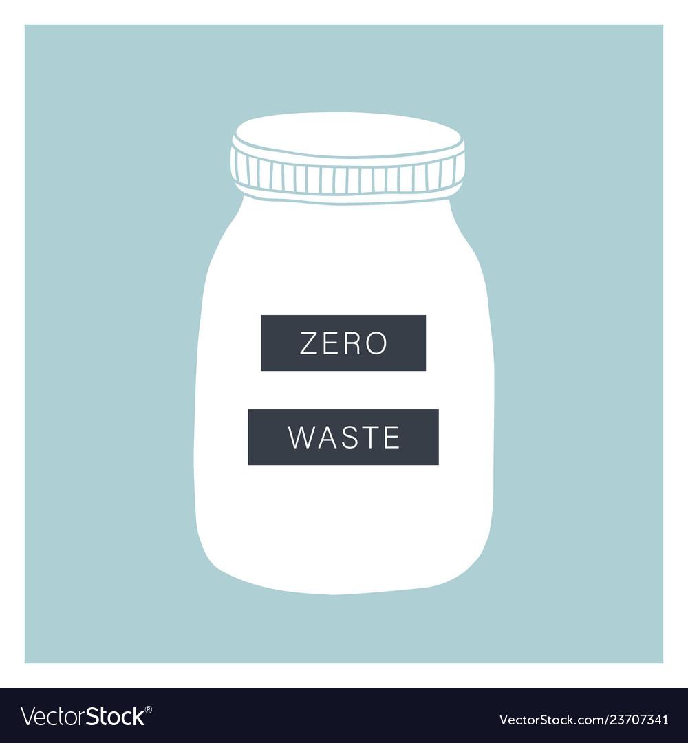Zero waste living glass jar