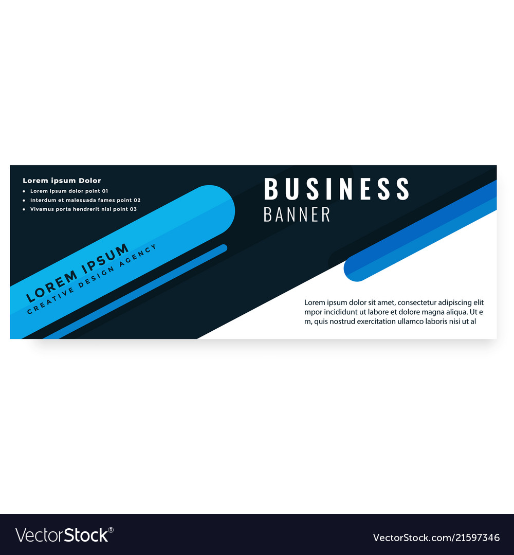 Abstract black blue design business banner