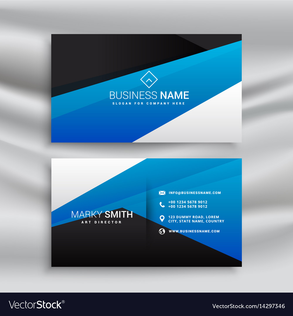 blue business card stationary design for brand vector image