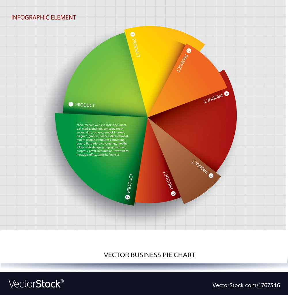 Business Pie Chart Paper Info Graphics Royalty Free Vector