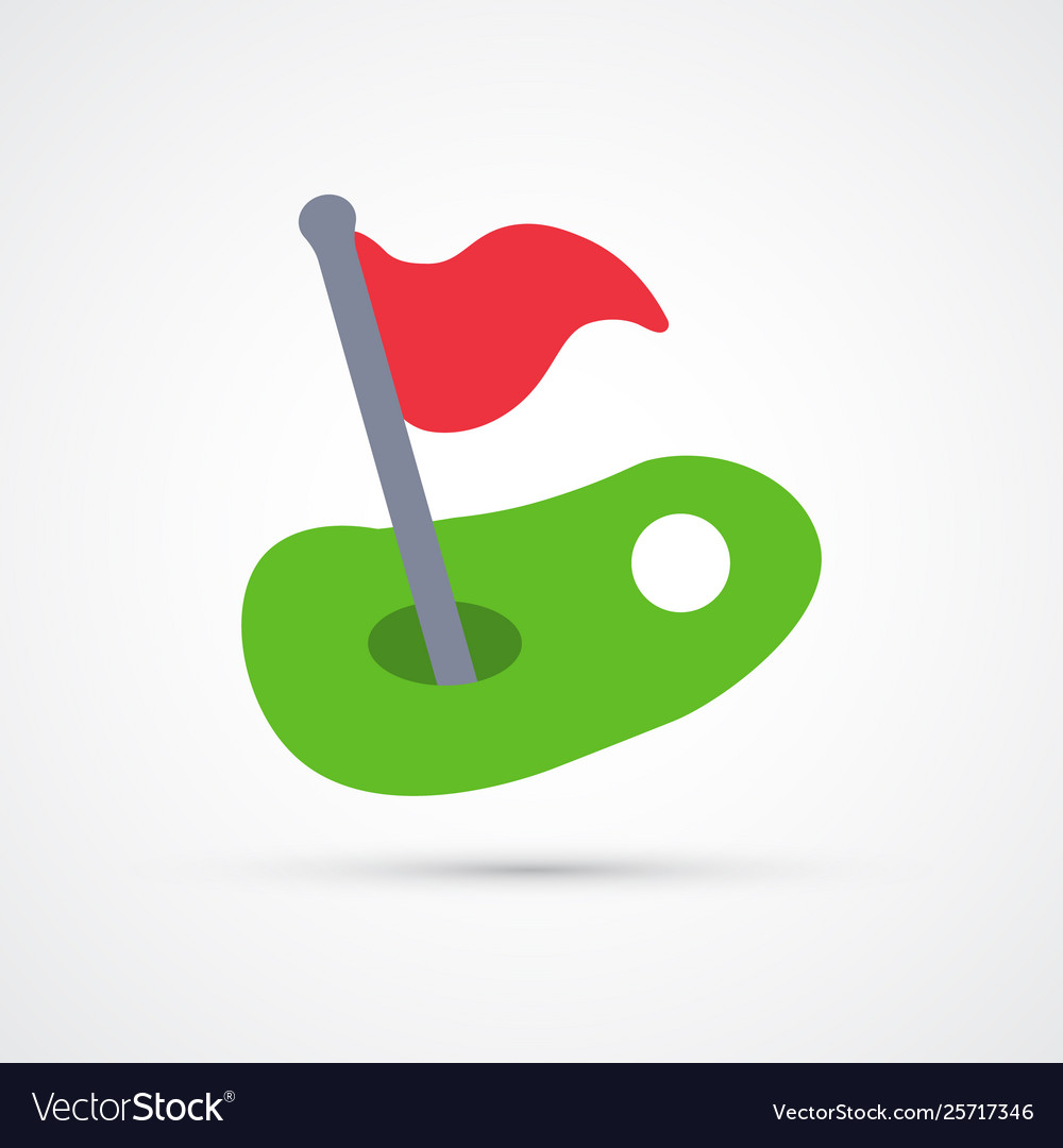 Colored golf trendy symbol