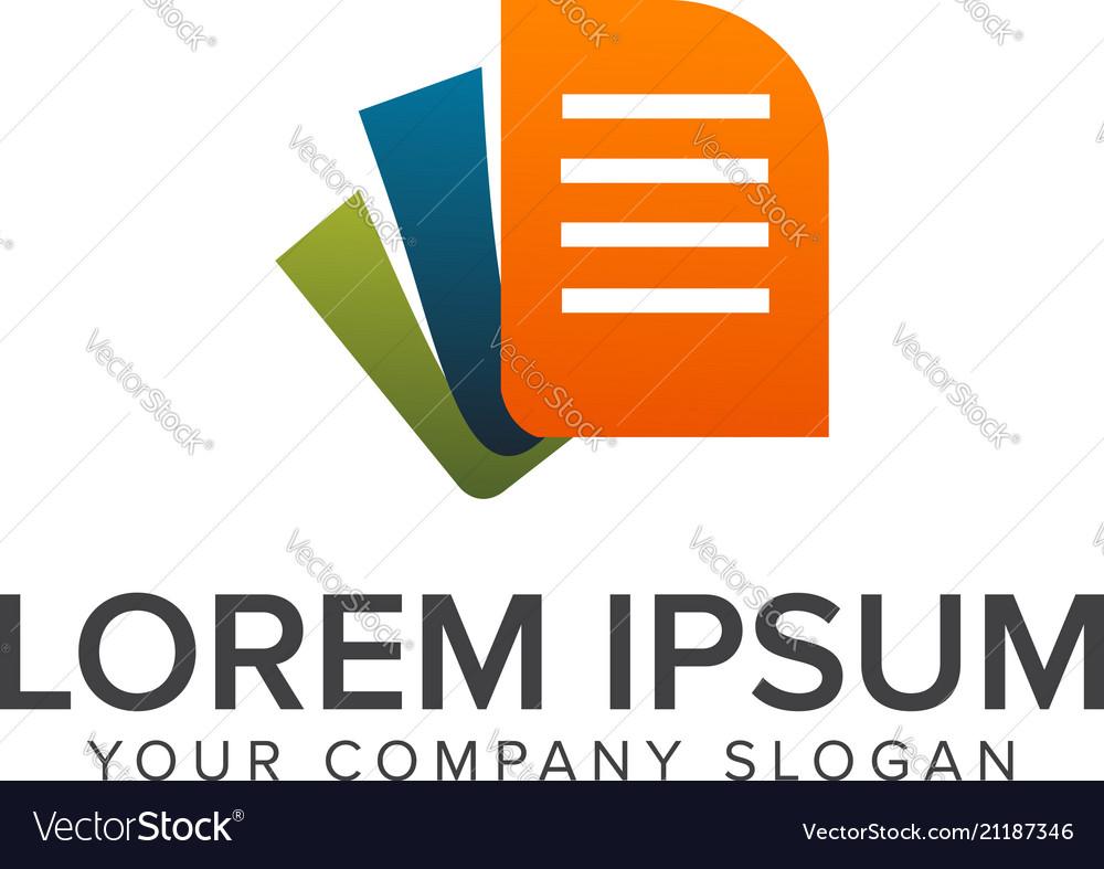 Document logo design concept template